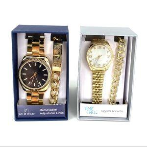 Time & Tru Women's Watch and George Men's Watch